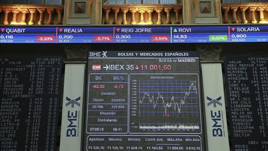 La bolsa española abre con pérdidas y el IBEX cede un 1,03 por ciento