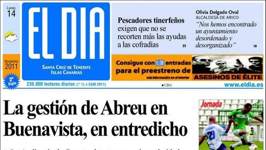 De las portadas del día (14/11/2011) #4