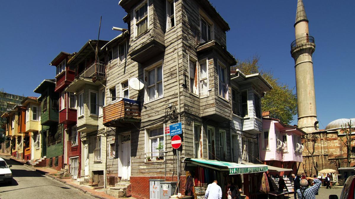 Antiguas casas de madera en Balat.