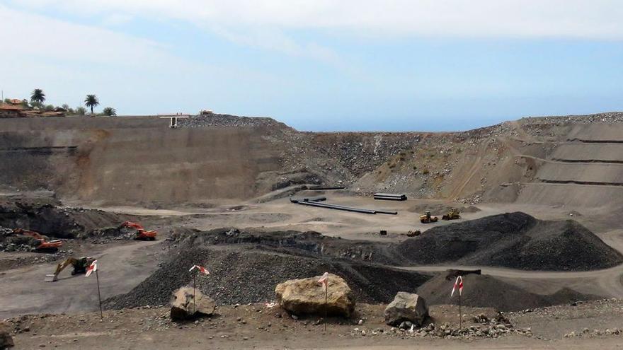 Imagen de archivo de la obra de la Balsa de Vicario, en el municipio de Tijarafe.