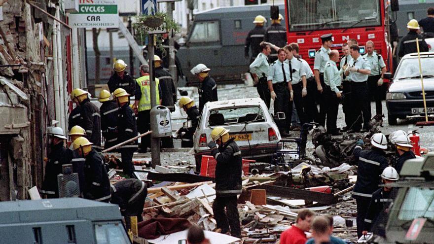 Escena de 'Omagh' (2004), sobre el atentado del IRA auténtico en la localidad irlandesa.