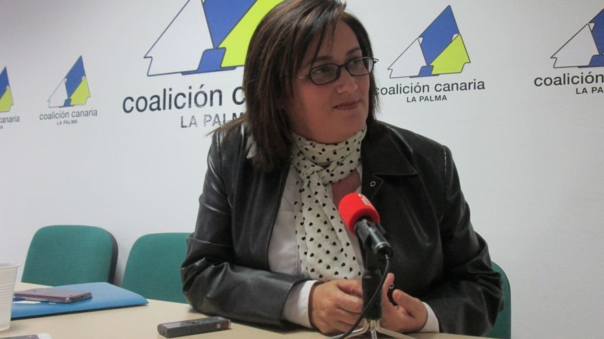 Guadalupe Gonzçalez Taño este martes en rueda de prensa. Foto: LUZ RODRÍGUEZ