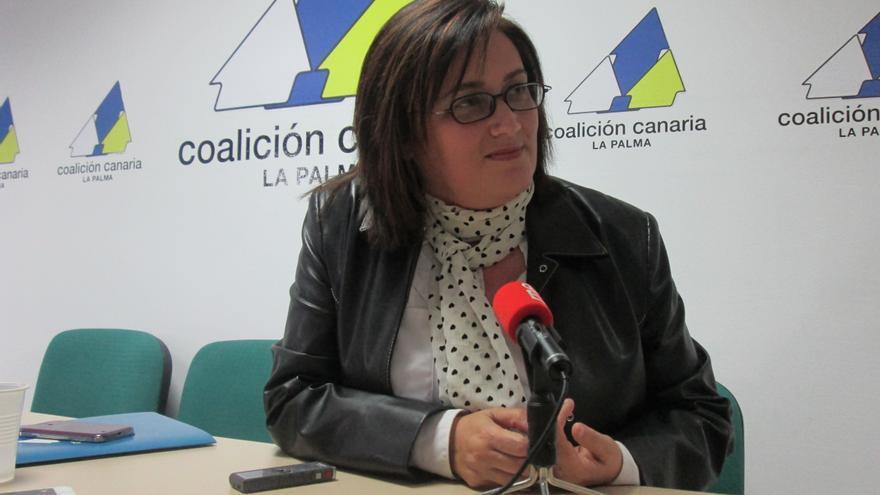 Guadalupe González Taño, secretaria general de CC en La Palma. Foto: LUZ RODRÍGUEZ