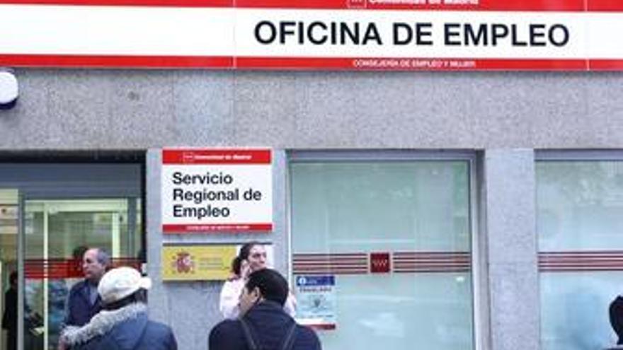 Fachada del Inem en Madrid, paro