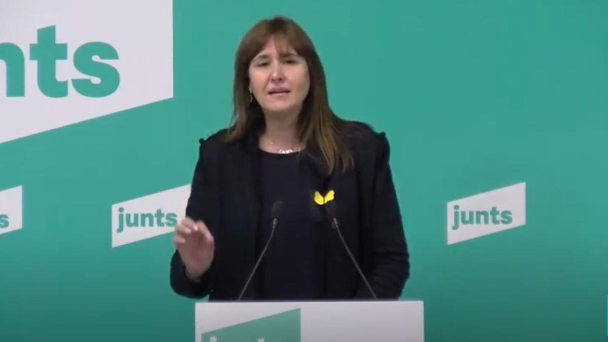Laura Borràs, candidata a la presidencia de la Generalitat de Catalunya por Junts.