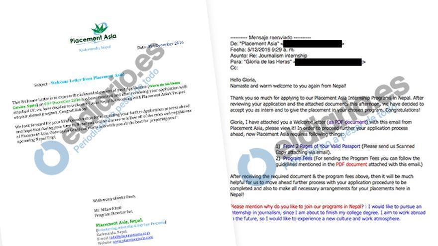 Cartas de academia fraudulenta Nepal