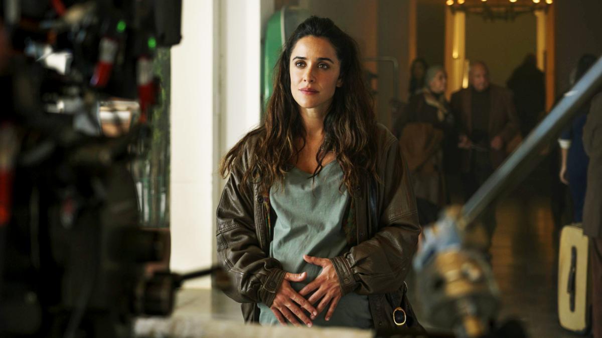 Macarena García, en el rodaje de la segunda temporada de 'Paraíso'