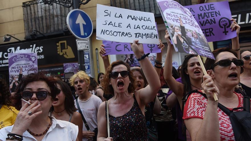 Manifestación en Madrid contra la puesta en libertad de la manada / Fernando Sánchez