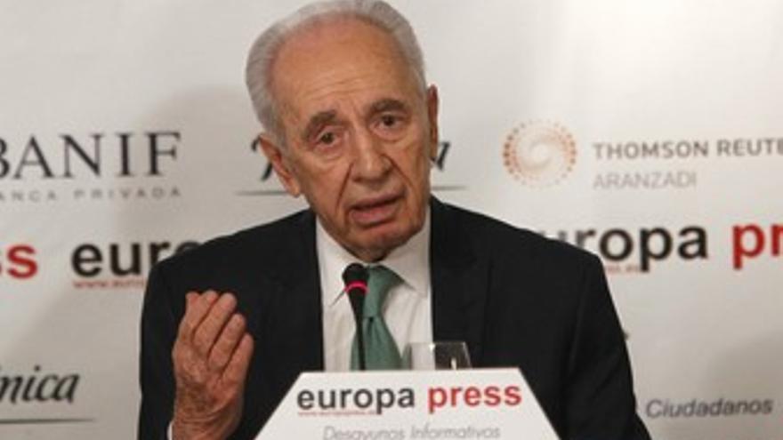 Simon Peres en los desayunos informativos de Europa Press