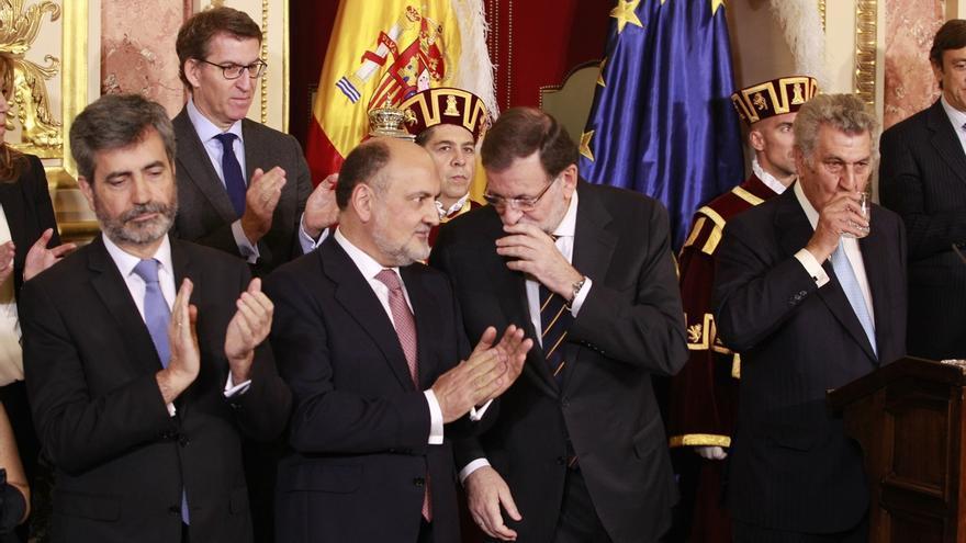 Rajoy almuerza en la Cámara Baja con los presidentes del Congreso, del Senado, del TC y del CGPJ