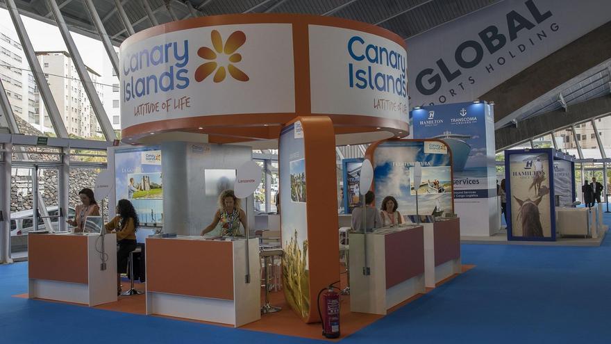 Stand de Promotur Turismo de Canarias en Seatrade Cruise Med 2016.