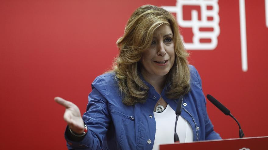 """Susana Díaz no descarta una moción de censura """"en el futuro"""" si es """"constructiva"""" y cuenta con apoyo mayoritario"""