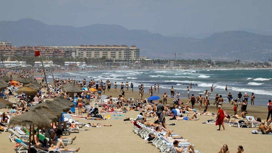 Una playa de Valencia