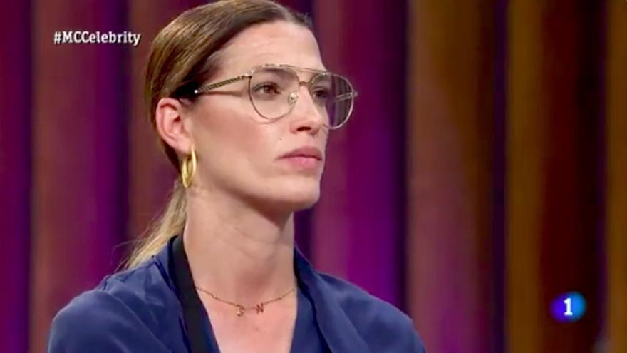 Laura Sánchez, en su expulsión de 'Masterchef Celebrity 5'