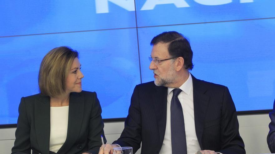 """Cospedal ve al PP como el único que defiende la unidad porque el PSOE  """"renuncia a sus siglas"""" por Podemos en Baleares"""