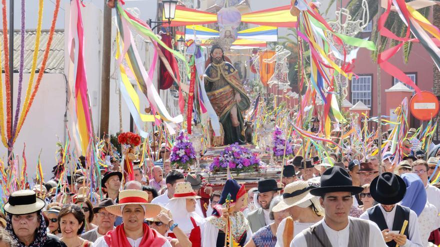 Imagen de archivo de una edición anterior de la romería garachiquense, en el norte de Tenerife