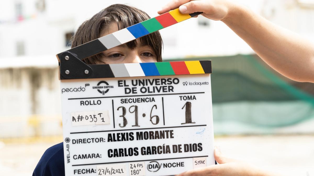 Foto del rodaje de 'El universo de Óliver'