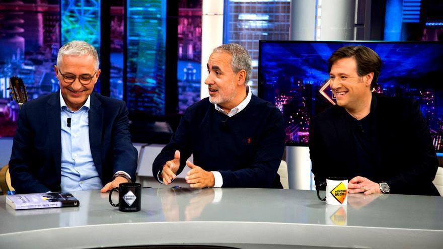 Sardá, Latre y Jorge Salvado, anoche en 'El Hormiguero'