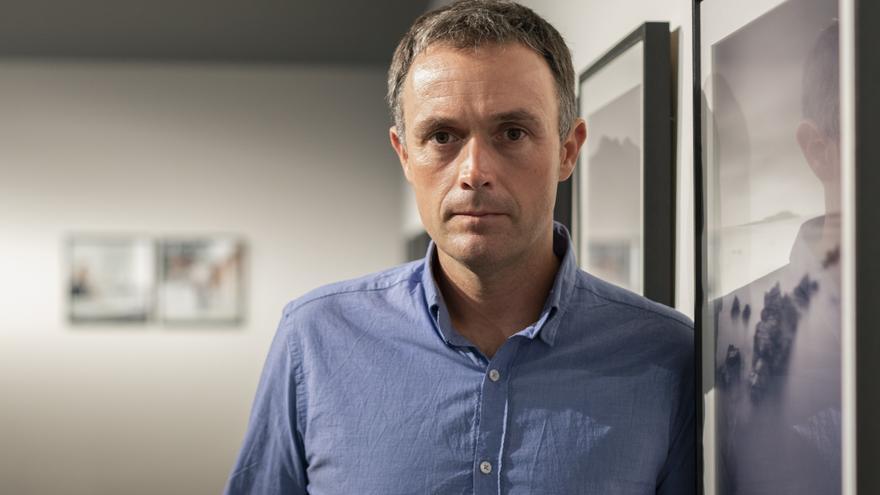 Mikel Ayestarán durante la entrevista con eldiario.es