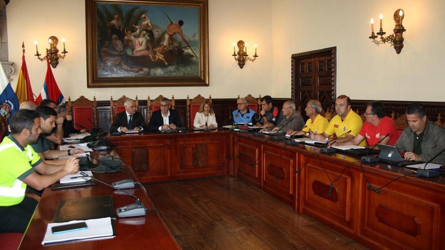 Reunión de la Junta Local de Seguridad de Santa Cruz de La Palma.