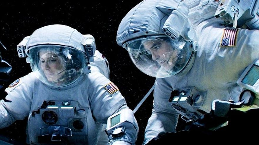Sandra Bullock y George Clooney en una imagen de 'Gravity' / Foto cedida