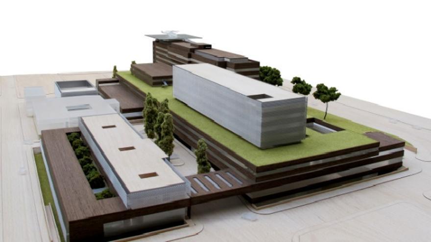 Infografía del futuro hospital de Albacete