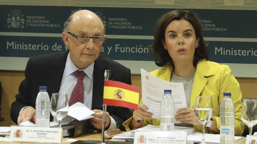 El ministro de Hacienda y la vicepresidenta del Gobierno en el último CPFF