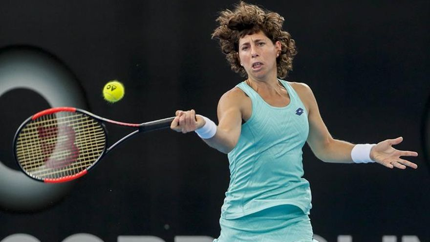 Carla Suárez en el torneo de Brisbane