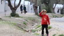 Lesbos, campo de refugiados.