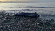 Embarcación en la que los dos detenidos transportaban 400 kilos de hachís a Gran Canaria.