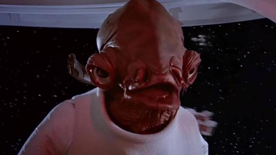 El almirante Ackbar, de la trilogía original de 'Star Wars'