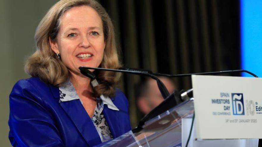La vicepresidenta del Gobierno y ministra de Asuntos Económicos y Transformación Digital, Nadia Calviño.