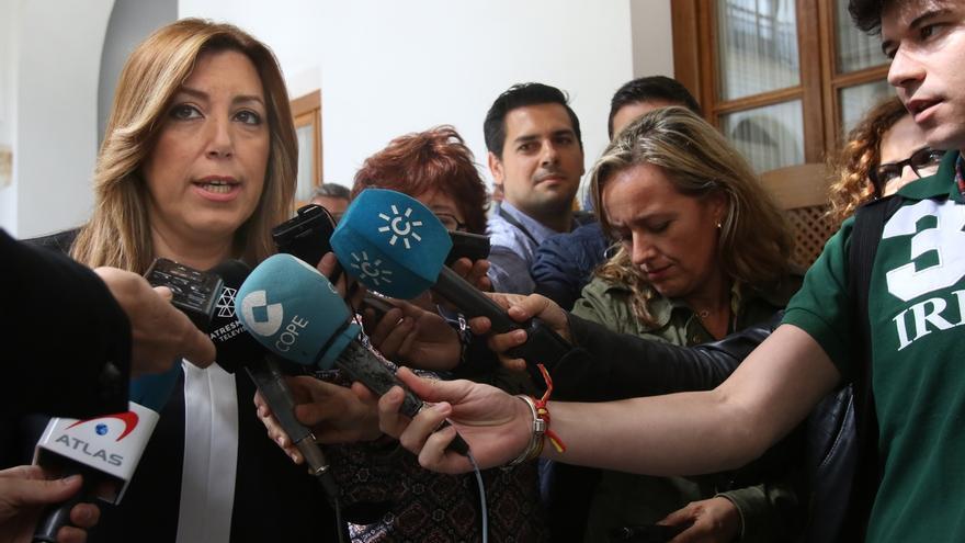 """Susana Díaz dice que el líder del PSOE """"tiene que tener muy claro el modelo territorial"""" y que ella no lo ha cambiado"""