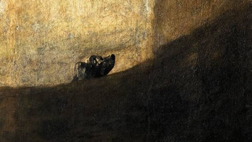 'Perro semihundido', una de las pinturas negras de Francisco de Goya
