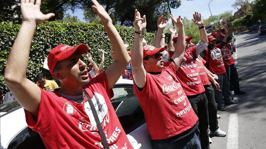 El campamento de Coca-Cola en Fuenlabrada estalla en lágrimas de alegría