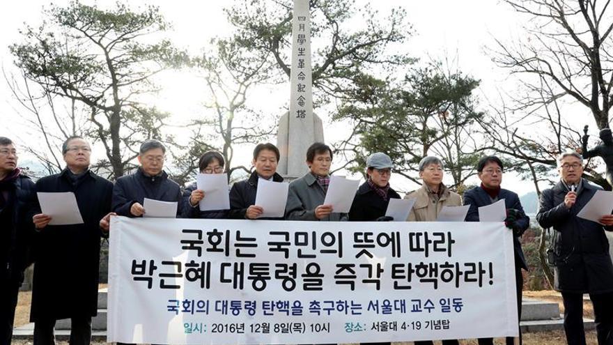 El Parlamento surcoreano presenta la moción para destituir a la presidenta