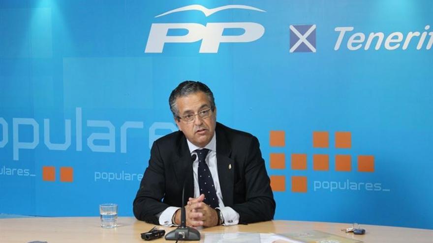 El portavoz del Grupo Popular en el Cabildo de Tenerife, Antonio Alarcó.