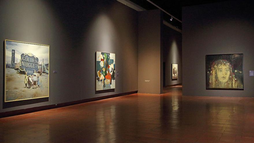 Exposición 'Cielo-Tierra' (Fondos del Museo de Arte Contemporáneo Infanta Elena) de Tomelloso, que se muestra en el Museo de Santa Cruz. (Foto: Álvaro Ruiz // JCCM)