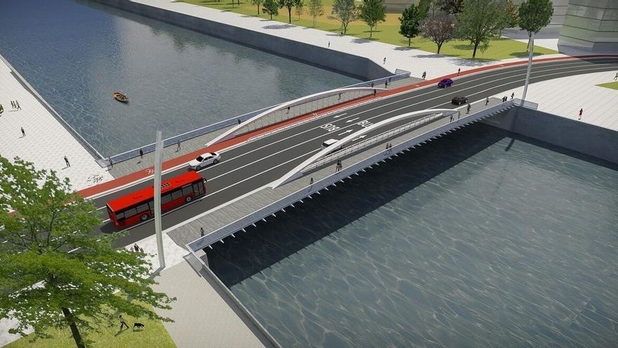 Junta de Gobierno de Bilbao aprueba el proyecto del puente de San Ignacio en Zorrozaurre, por 9,7 millones