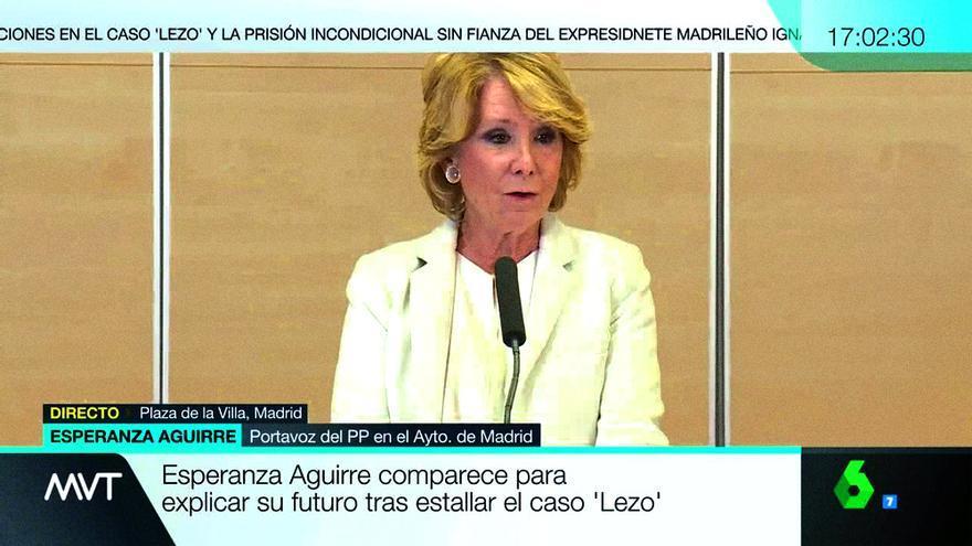 La dimisión definitiva de Aguirre recorta la emisión de 'Zapeando'