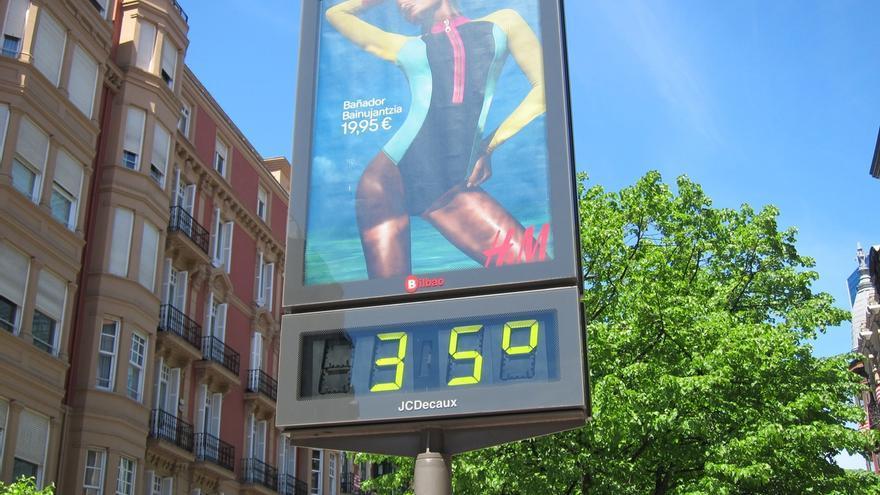 Alertan de máximas de 36 grados el lunes en Álava y 38 grados el martes en el interior de Bizkaia y Gipuzkoa