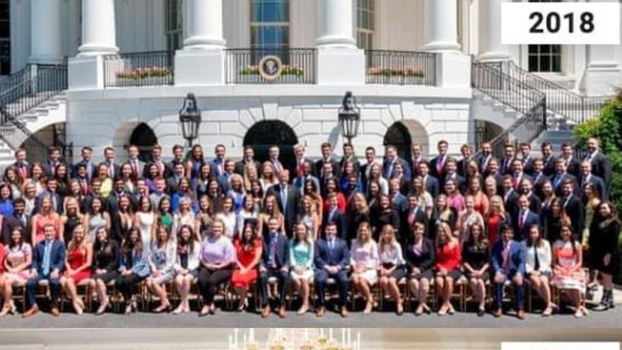 La Casa Blanca más blanca: la foto de becarios muestra el declive de la diversidad con Donald Trump
