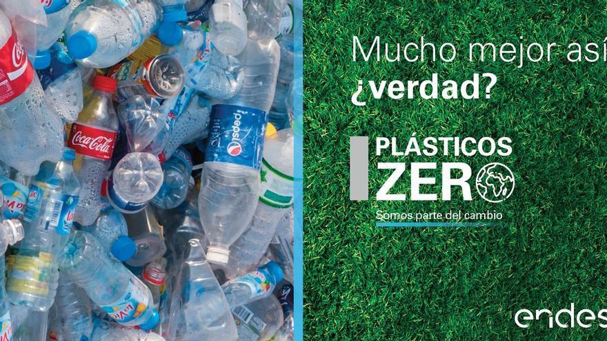 Cartel de la iniciativa Plásticos ZERO de Endesa.