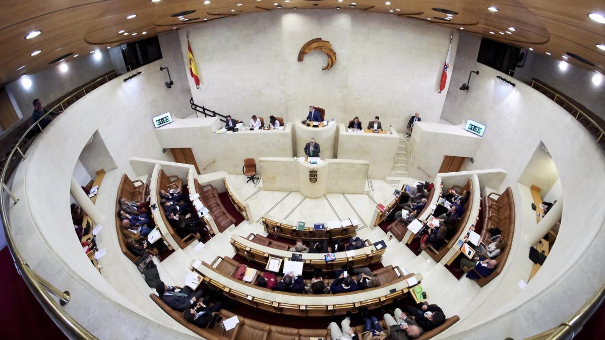 Hemiciclo del Parlamento de Cantabria.