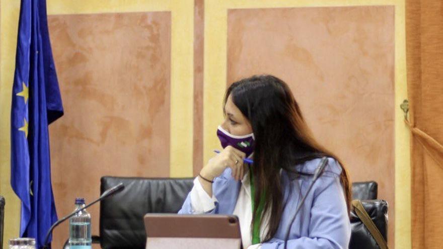 La secretaria de Acción Institucional de Podemos Andalucía, Alejandra Durán.