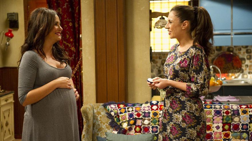 Melani Olivares embarazada en 'Aida'