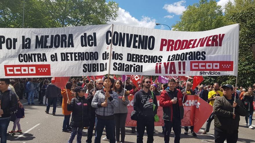 Manifestación del pasado 1 de Mayo en Madrid