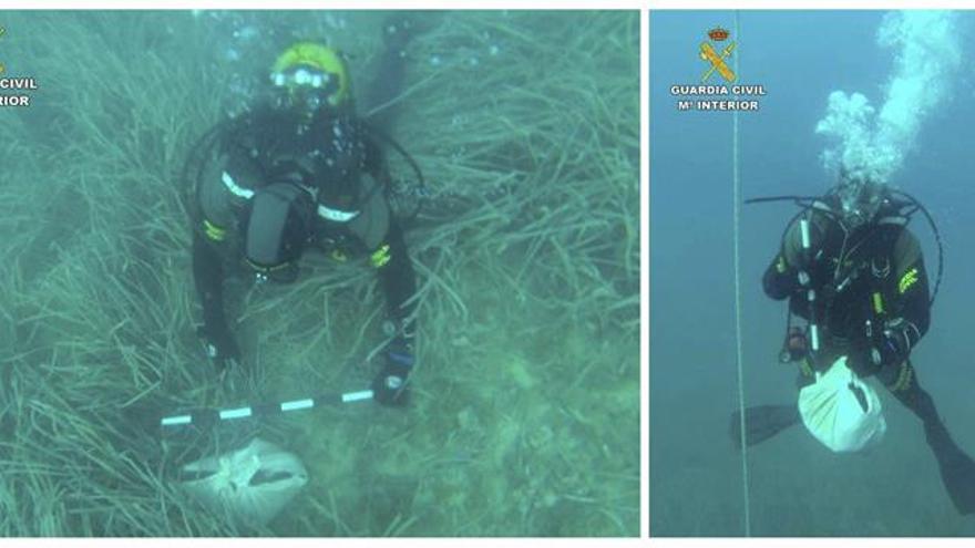 Hallan una nueva sábana con restos humanos y objetos en aguas de Calpe