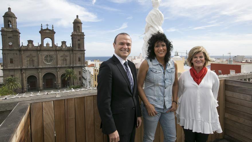 Augusto Hidalgo, Rosana e Inmaculada Medina