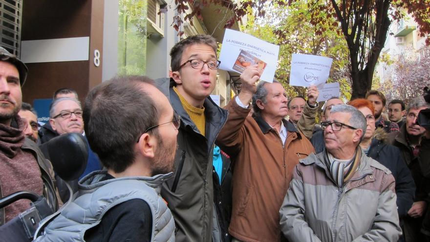 """Errejón (Podemos) apunta que para acabar con la pobreza energética el Gobierno debe estar """"a la altura"""""""